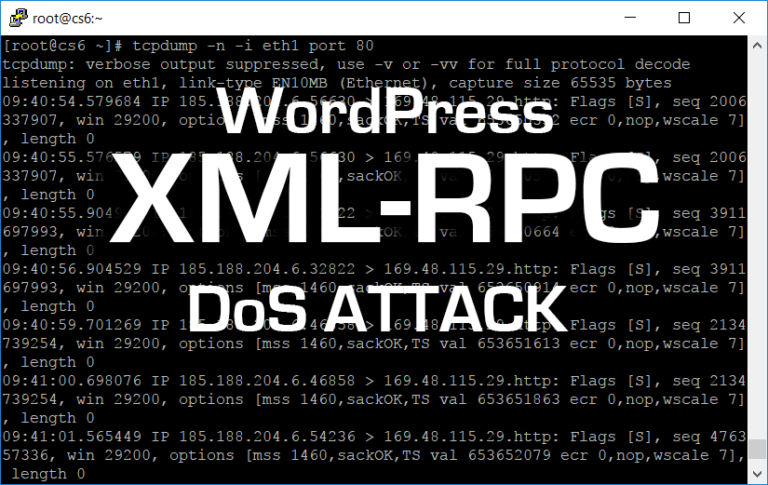 Wordpress XML-RPC DoS Attack