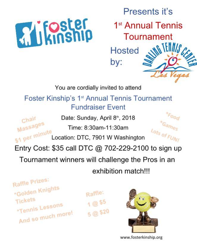 Original Tennis Event Flyer